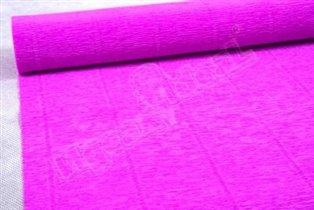 Бумага гофрированная простая 590 ярко-сиреневый