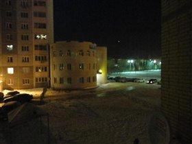 Вид из окна. Время 6:55