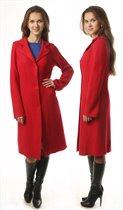 ПА2К Пальто приталенное красное.