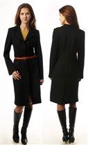 ПА2Ч Пальто приталенное черное.