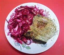 Свинина с салатом по-грузински