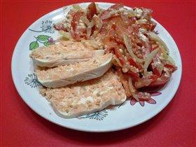 суфле из семги с салатом