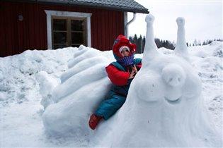 Улитка-снеговик!