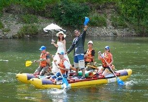 Сплав по реке Сучан в день нашей свадьбы!