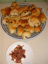 постные жаворонки и яблочные пирожки