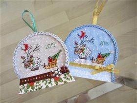Снежные шары с овечками)