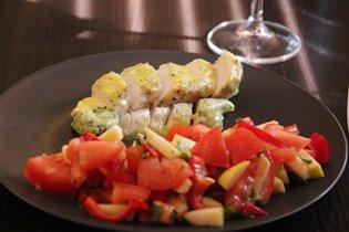 Куриная грудка в сливочно-сырном соусе