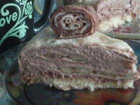 Блинный<br /><br />Что бы два раза на вставать, на 23 февраля баловала своих тортом