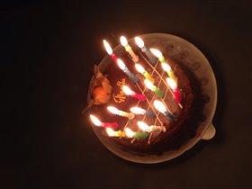 Торт с 17 свечками
