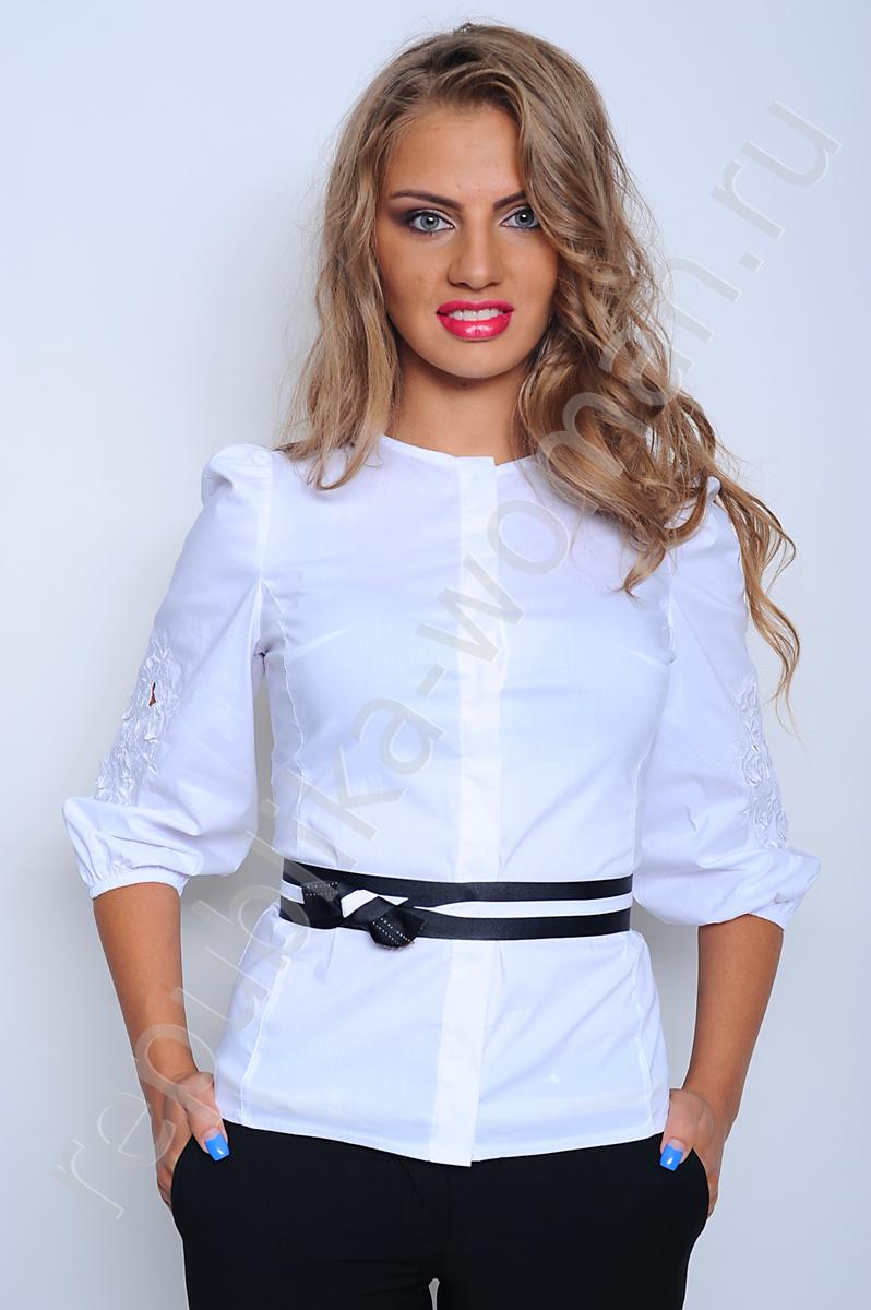 3ee5e1a6789 Белая нарядная блузка - белая брендовая блузка
