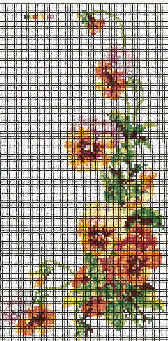 схема. Цветы