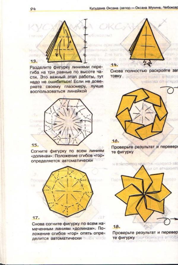 дальнейшее приготовление оригами схема сборки магического шара в картинках молодой сынок