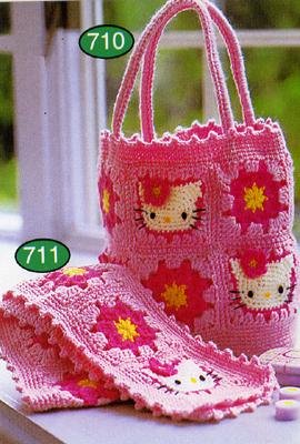 Hello Kitty сумочка и шарф. Разное