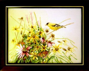 Yellow Fieldflowers (#34713, Lanarte) . Конкурс вышитых работ Матушка-Весна