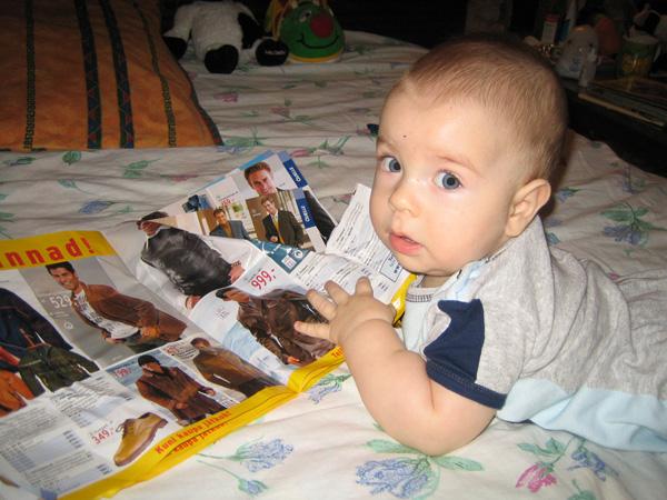 Папа....я уже выбрал.... Как хорошо уметь читать!..
