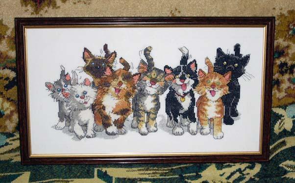 Кошачьи хвосты наконец-то оформлены!. МОИ ВЫШИВКИ