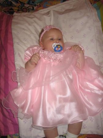 Юляшечка 3 месяца.. Маленькая принцесса