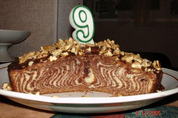 'Зебра' в разрезе. торты и десерты