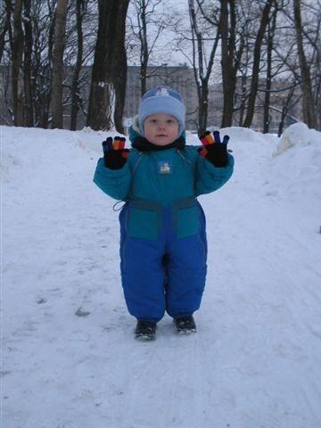 На прогулке в зимнем парке. Не боимся мы мороза!