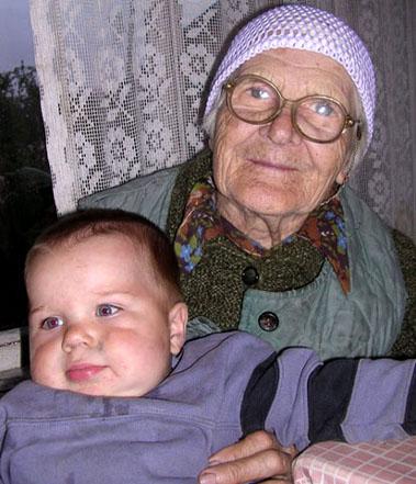 Вечерняя идиллия.... Внучата