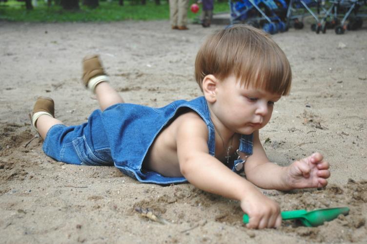 Папа сказал, что зарыт клад!. Я построил на песке...