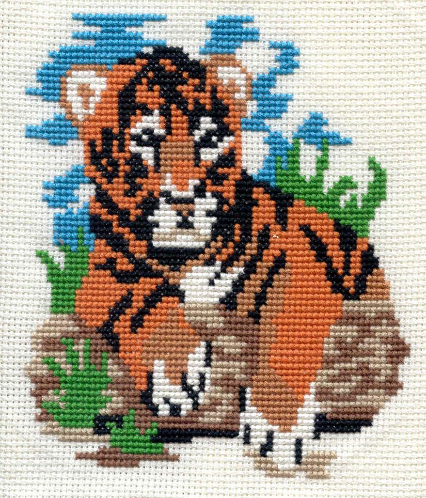 Тигр. Вышивка