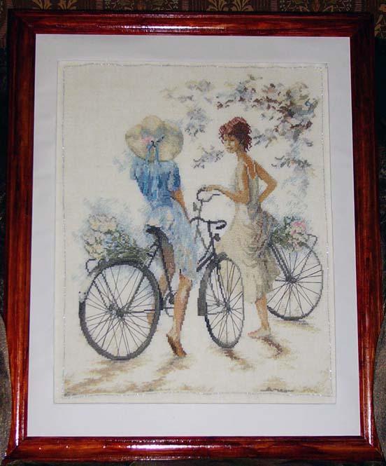 Girls on Bicycle_Lanarte. МОИ ВЫШИВКИ