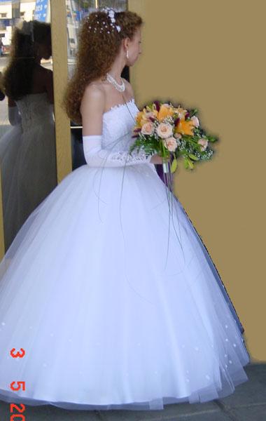 Платье свадебное белое р.42-44.