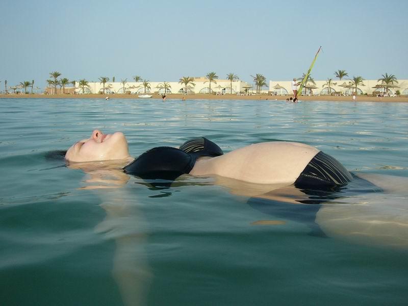 Саша ещё не родился, но уже побывал в Египте и даже поплавал в море!. Счастлива, потому что беременна