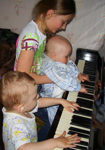 трио. Дети и музыка