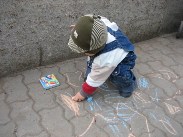 Я рисую синим мелом.... Живописцы, окуните ваши кисти!