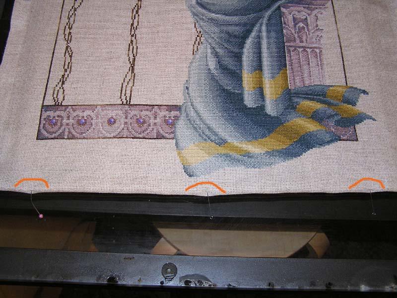 Натягиваем вышивку
