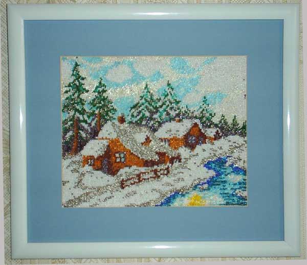 Зима. Конкурс вышитых работ 'Пейзажи'