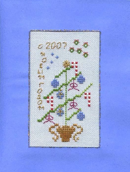 129 - от Olga (Ona) для Тара. Открытки к Новому 2007 году в пути