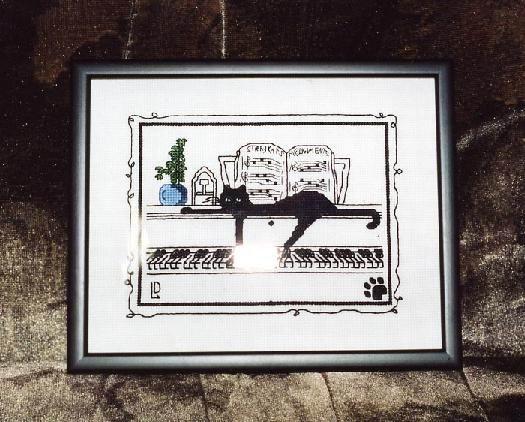 Кот на рояле. Мои работы