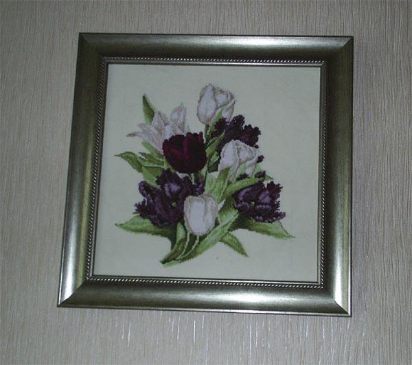 Black Tulips. Дизайн'Lanarte' . Вышивальный конкурс 'Я цветочки вышивала...'