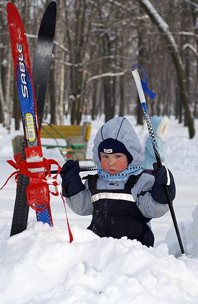 а лыжи не дают.... Зимние забавы