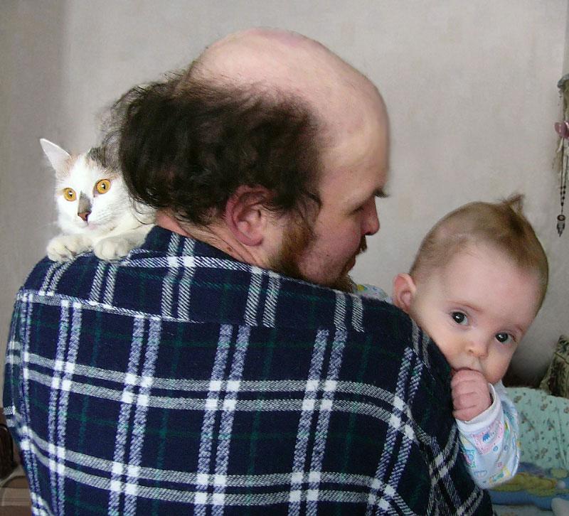 Наш папа и его дети. Ребята и зверята