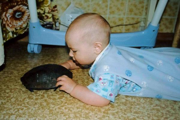 Мам, а наша черепаха суповая?. Ребята и зверята