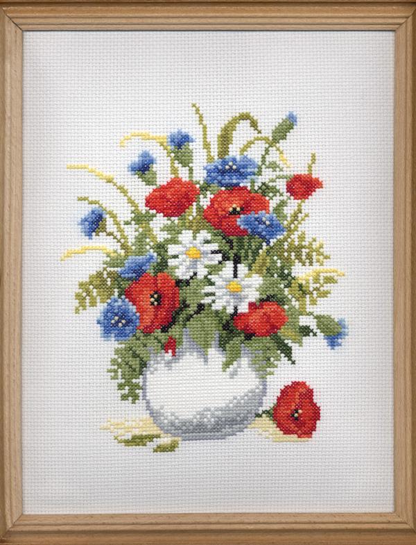 Полевые цветы. Вышивальный конкурс 'Я цветочки вышивала...'