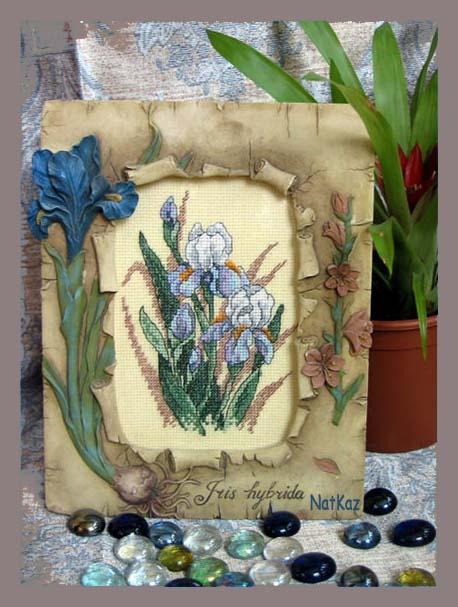 Мои любимые ирисы:). . Вышивальный конкурс 'Я цветочки вышивала...'