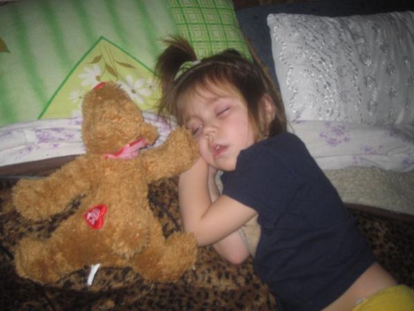 Танюша спит.... Мой малыш перед сном