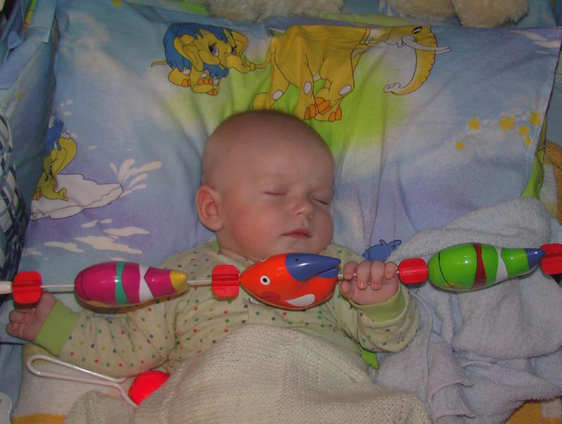 Доигрался........ Мой малыш перед сном