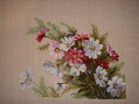 космея. Вышивальный конкурс 'Я цветочки вышивала...'