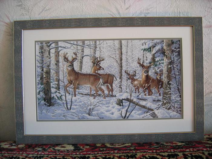 Dimensions 35130 Woodland winter. Конкурс вышитых работ 'Пейзажи'