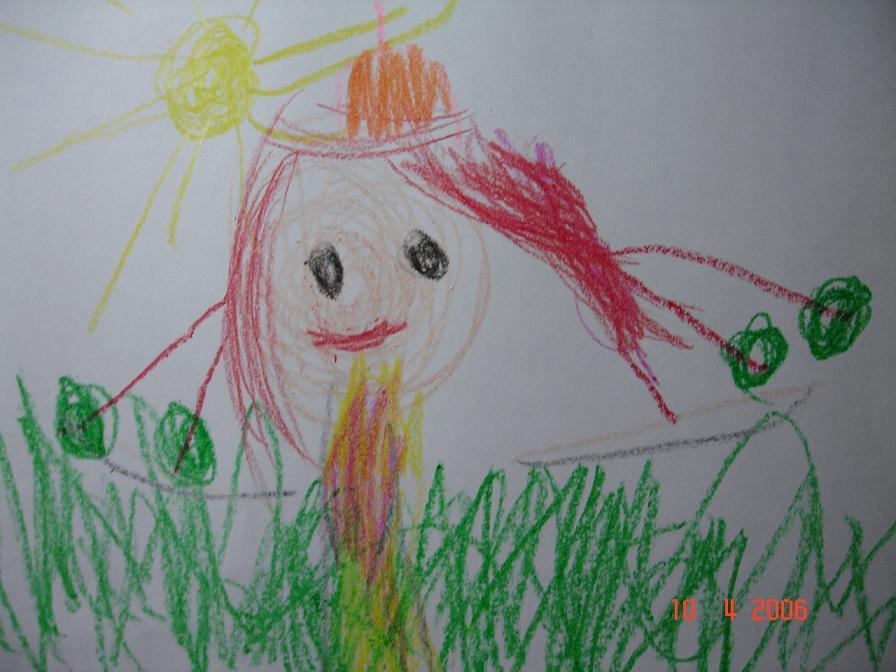 Летняя принцесса:) Художнице 3 года и 2 месяца. Конкурс детского рисунка с ВООБРАЖАЛКИНЫМ