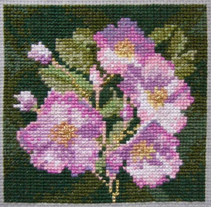 Кто узнал цветок?. Вышивальный конкурс 'Я цветочки вышивала...'