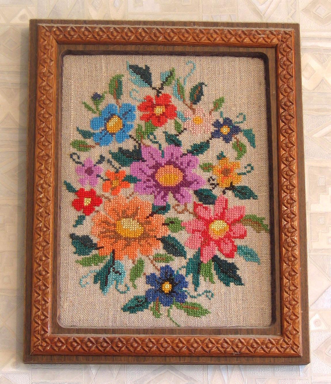 20 лет спустя. Вышивальный конкурс 'Я цветочки вышивала...'
