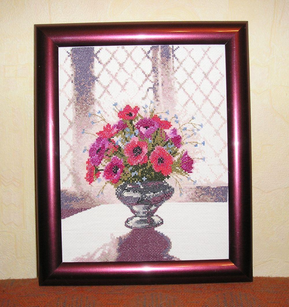 Silver Vase - Heritage. Вышивальный конкурс 'Я цветочки вышивала...'