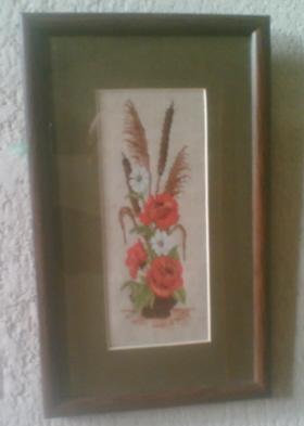 Икебана с маками. Вышивальный конкурс 'Я цветочки вышивала...'